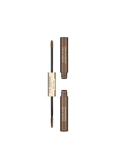 Clarins Brow Duo 03 Cool Brown Kaş Maskarası Renkli